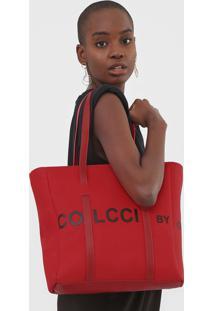 Bolsa Sacola Colcci Lettering Vermelha - Kanui