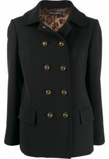 Dolce & Gabbana Casaco Com Colarinho - Preto