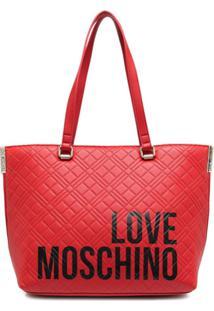 Love Moschino Bolsa Tote Com Estampa De Logo - Vermelho