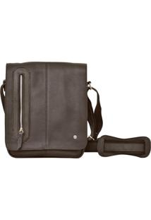 Bolsa Corazzi Leather Deluxe Carteiro Café