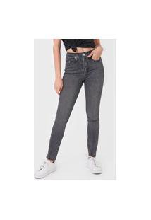 Calça Sarja Calvin Klein Jeans Skinny Estonada Preta