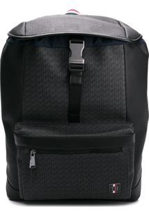 Tommy Hilfiger Logo Buckle Backpack - Preto