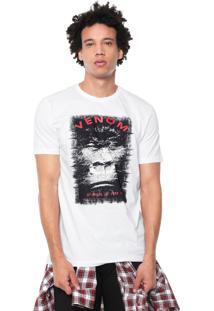 Camiseta Venom Estampada Branca