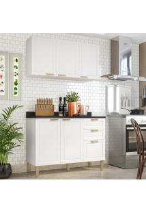 Cozinha Completa 3 Peã§As Americana Multimã³Veis 5922 Branco - Branco/Incolor - Dafiti