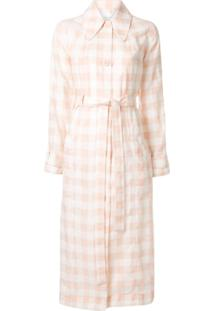 Alice Mccall Trench Coat Com Estampa Xadrez - Rosa