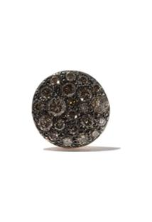 Pomellato Par De Brincos 'Sabbia' De Ouro Rosê 18K Com Diamantes - Brown