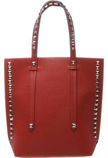 Bolsa Shopper Com Tachas- Vermelha & Prateadaschutz