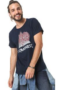 Camiseta Fiveblu Strongest Azul-Marinho