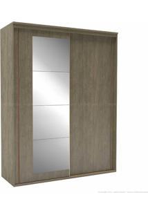 Guarda-Roupa 2 Portas De Correr 3 Gavetas Inovatto 100% Mdf 230 X 178,5 X 60 Com Espelho Ébano - Belmax Móveis
