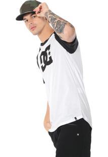 Camiseta Dc Shoes Star Raglan Branca/Preta