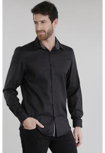 Camisa Slim Preta