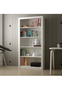 Estante Para Livros 4 Prateleiras Bl 01 Clássico Brv Móveis Branco