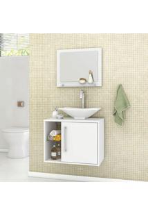 Conjunto Para Banheiro Com 1 Porta Baden - Bechara - Branco