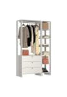Guarda Roupa Closet 03 Gavetas Yes Ey102.104 Branco Nova Mobile