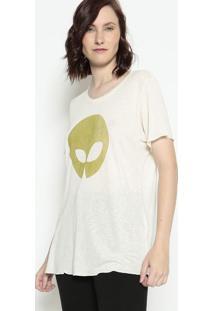 Blusa Texturizada Com Linho - Off White & Verdeosklen