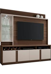 "Estante Home Canastra Para Tv Até 60"" Imbuia/Off White"