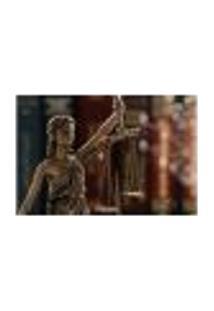Painel Adesivo De Parede - Estátua Da Justiça - Direito - 1155Pnp