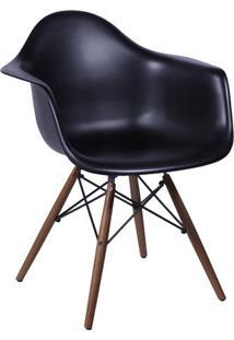 Poltrona Eames Dar- Preta & Marrom- 82X62X44Cm- Or Design