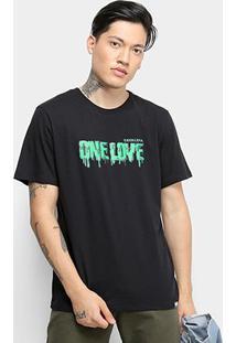 Camiseta Cavalera One Love Masculina - Masculino-Preto