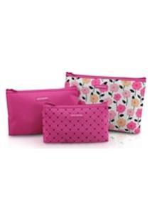 Kit De Necessaire De 3 Peças Pink Lover - Pink