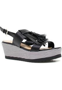 Sandália Zariff Shoes Plataforma Barbicacho - Feminino