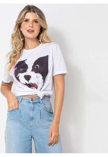 Camiseta Elora Candy Dog T-Shirt Feminina Branco