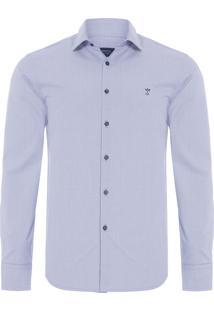Camisa Masculina Casual - Azul