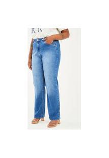 Calça Jeans Reta Básica Curve & Plus Size | Ashua Curve E Plus Size | Azul | 50