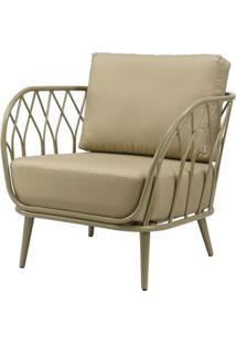 Poltrona Adelano Estrutura Em Aluminio Com Assento Acrilico Cor Fendi - 44683 - Sun House