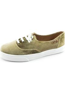 Tênis Quality Shoes Veludo Feminino - Feminino-Musgo