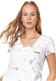 Camiseta Aeropostale Tie Dye Branca/Cinza