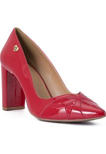 Scarpin Red Recortes Cs Club Vermelho - Tricae