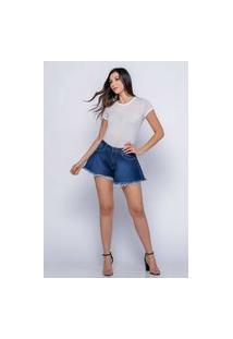 Shorts Godê Almaria Plus Size Shyros Jeans Azul