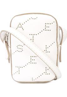 Stella Mccartney Bolsa Tiracolo Com Logo Perfurado - Branco