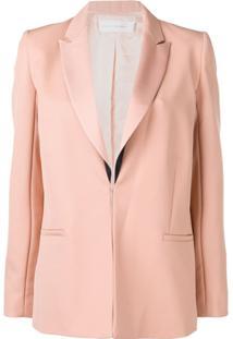 Victoria Victoria Beckham Blazer Com Lapela Contrastante - Rosa