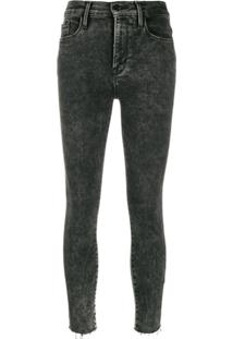 Frame Calça Jeans Skinny Cropped Ali - Preto