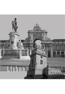 Quadro Impressão Digital Lisboa 45X45