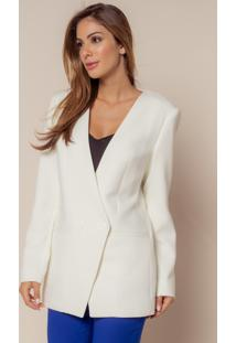 Blazer Plena Traspassado - Pl-7954-Off