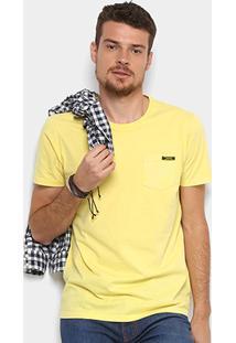 Camiseta Colcci Bolso Masculina - Masculino-Amarelo
