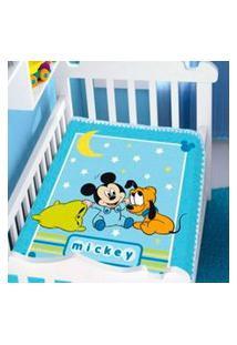 Cobertor Menino Jolitex Disney Baby Mickey E Soninho Azul