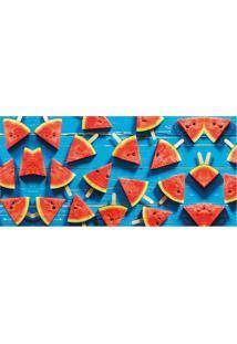 Tapete Transfer Melancia- Vermelho & Azul- 90X40Cm