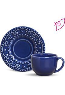 Jogo De Xícaras De Chá Esparta- Azul- 6Pçs- 161Mporto Brasil