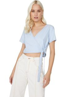 Blusa Jeans Cropped Transpasse