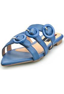 Sandalia Love Shoes Rasteira Bico Folha - Tricae