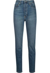 Eve Denim Calça Jeans Cintura Alta Annabel Azul