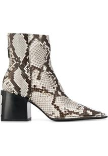 Alexander Wang Animal Print Ankle Boots - Neutro