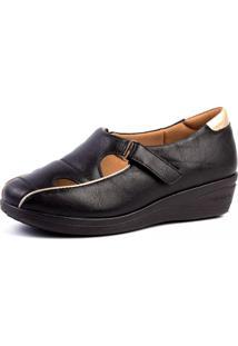 Sapato Anabela Doctor Shoes 185 Preto