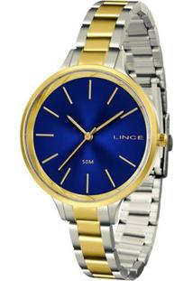 Relógio Lince Feminino - Lrth045L D1Sk - Feminino-Prata+Dourado