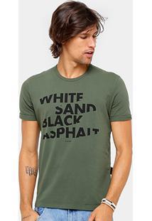 Camiseta Ellus Manga Dobrada Classic Masculina - Masculino-Verde Militar