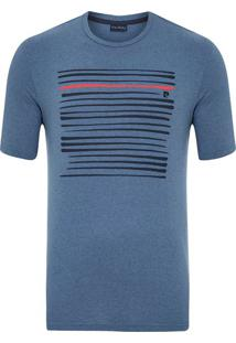 Camiseta Silk Listras Azul Jeans